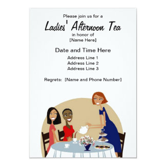 Ladies' Afternoon Tea Custom Invites