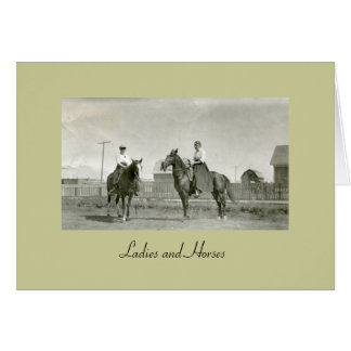 Ladies and Horses Stationery Note Card