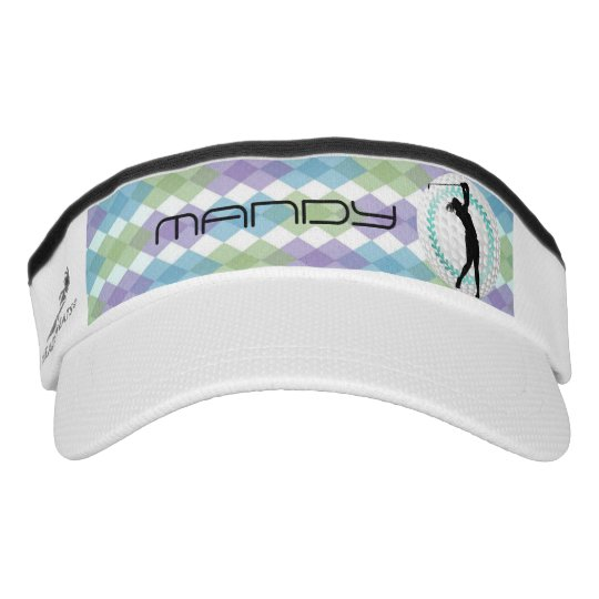 Ladies Argyle Golf Ball•Wreath•Custom Visor  4b15a280947