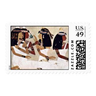 Ladies At A Banquet By Maler Der Grabkammer Des Ne Postage Stamps