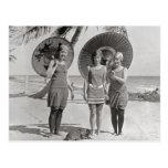Ladies at the Beach, 1920 Postcard