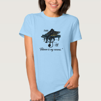 """Ladies Baby Blue """"Silence is my canvas."""" T-Shirt"""