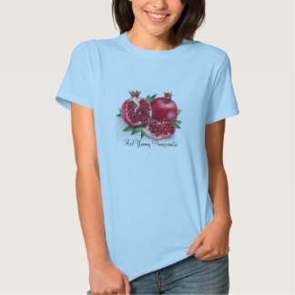 Ladies Baby Doll (Fitted), Red Yummy Pomegranates T-shirt