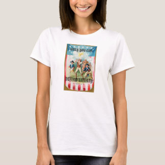 Ladies Babydoll (Fitted) T-Shirt w/ Spirit of 76 w