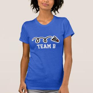 Ladies badminton team t-shirts with custom name