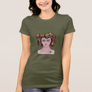 Ladies Basic T-Shirt portrait woman