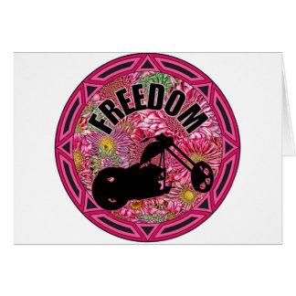 Ladies Biker Freedom Card