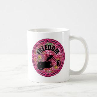 Ladies Biker Freedom Coffee Mug