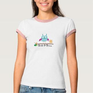 Ladies Birds & Brews Ringer T-shirt