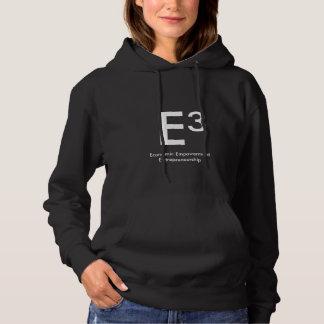 ladies black E three hoodie