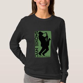 Ladies Black LS Logo - Customized T-Shirt