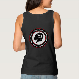 Ladies' Black RAM Tank Top, Relaxed Fit