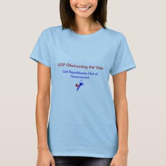Ladies Blue T-shirt -GOP Obstructing Vote