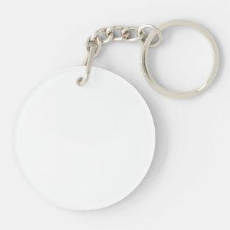 Ladies & Boats Black White Acrylic Round Keychain