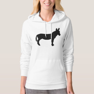 Ladies california classic style hoodie with donkey