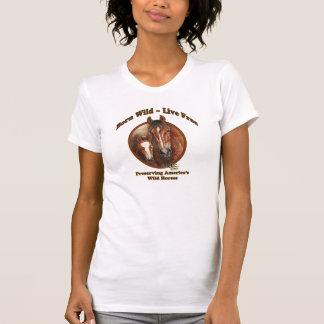 Ladies Casual Scoop T-shrt Born Wild Live Free SAF T-Shirt