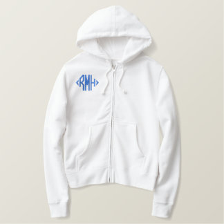 Ladies Choir Member 6 Embroidered Zip Hoodie