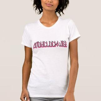 ladies clockwise AA reversible sheer top Tshirt
