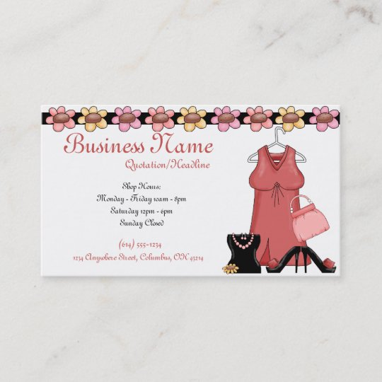 Ladies clothes accessories girly business cards zazzle ladies clothes accessories girly business cards colourmoves