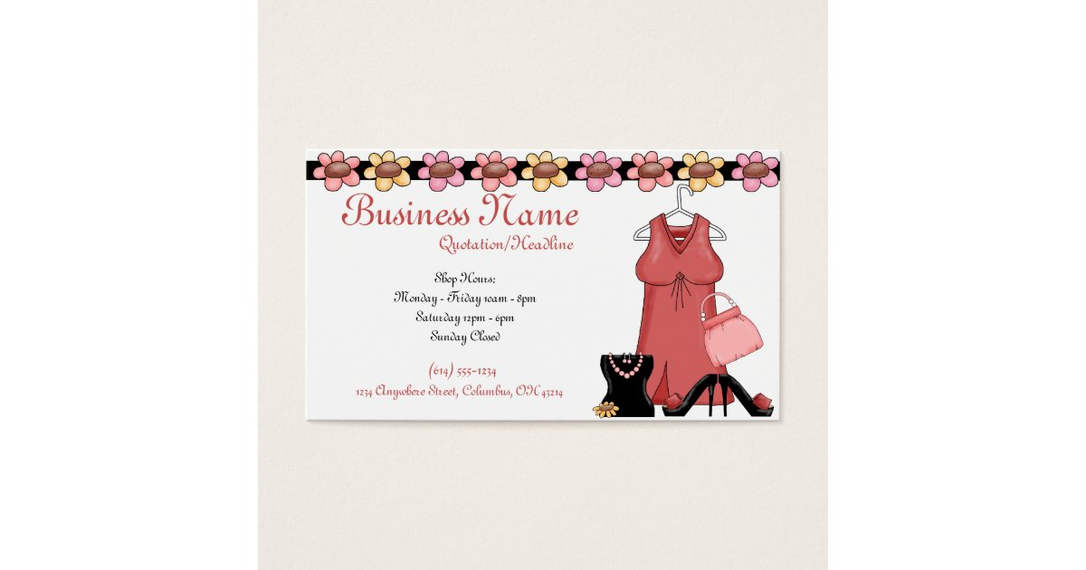 Girls Shoes Business Cards & Templates | Zazzle