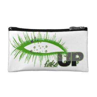 """Ladies Cosmetic """"FakeUP' Bag - Green Makeup Bags"""