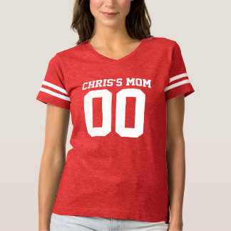 Ladies Custom Football Jersey Personalized/Mom T Shirt