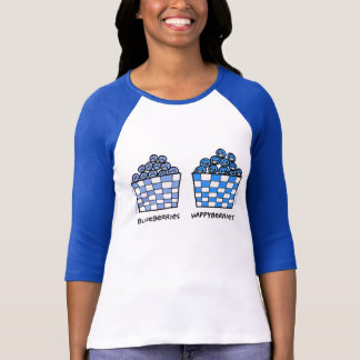 Ladies Cute Funny Blueberries Lovers Tee Shirt