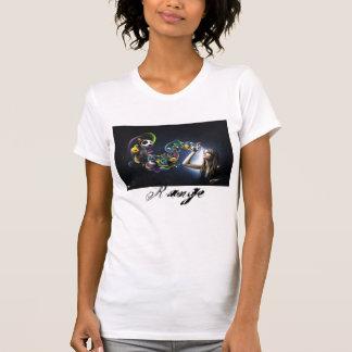 Ladies Destroyed T-shirt with Range print design