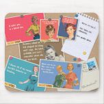Ladies drinking cork board mouse pad mousepads