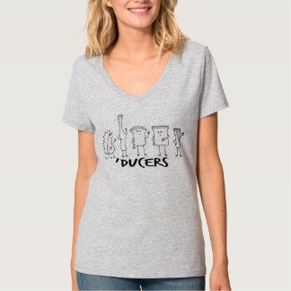 Ladies' 'Ducers V-Neck (front design) Shirt