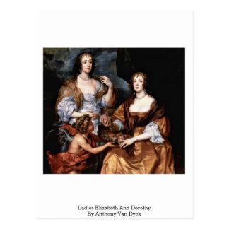 Ladies Elizabeth And Dorothy By Anthony Van Dyck Post Card