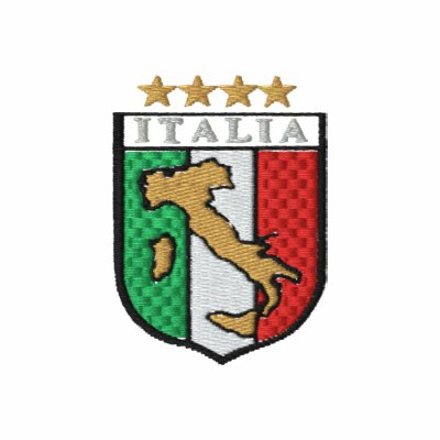 Ladies Embroidered pullover Italian Calcio hoodie