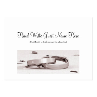 Ladies Entwined Rings BLK - Place Cards Business Cards