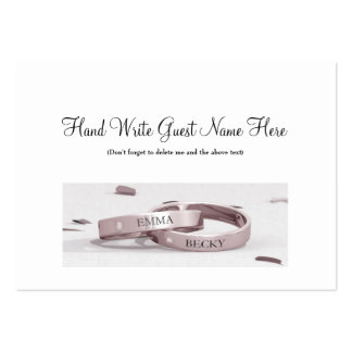 Ladies Entwined Rings - Place Cards Business Card Template