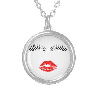 Ladies Eye Lashes and LipStick Kiss Jewelry