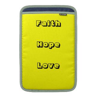Ladies faith,hope,love macbook sleeve