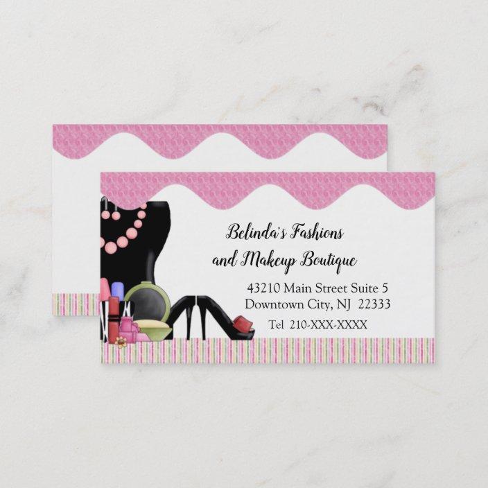 Ladies Fashion Boutique Business Card Zazzle Com