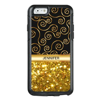 Ladies Faux Gold Glitter Otterbox Iphone 6/6s Case by idesigncafe at Zazzle