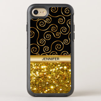 Ladies Faux Gold Glitter OtterBox Symmetry iPhone 7 Case