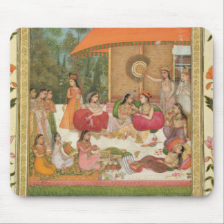 Ladies feasting, from the Small Clive Album Mouse Pad