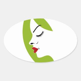 ladies fertility oval sticker