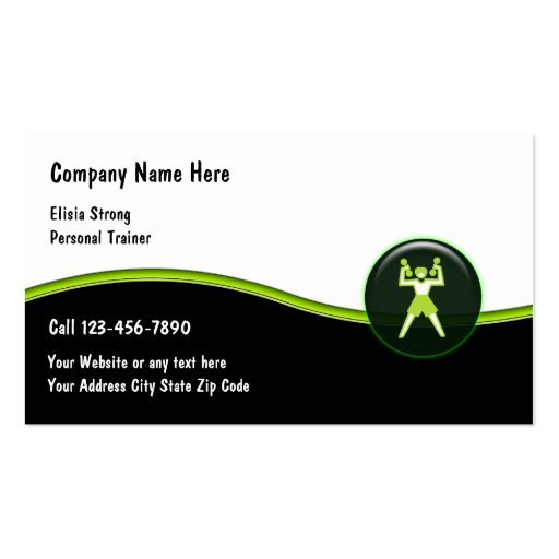 Ladies Fitness Business Cards