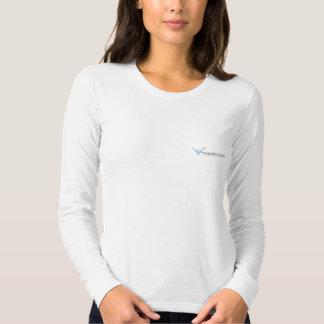 Ladies Fitted Long Sleeve Tee w/ Logo