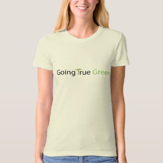Ladies fitted organic Going True Green T-shirt