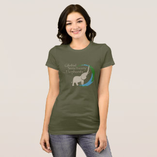 Ladies fitted tee with logo