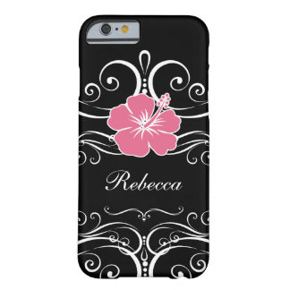 Ladies Floral Monogram Style Barely There iPhone 6 Case