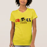Ladies France 2009 cycling tour fans tee