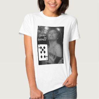 Ladies Gag Card Trick 7 of diamonds Shirt