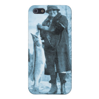 Ladies Get the Big Ones (Cyan) Vintage Trout Fish Case For iPhone SE/5/5s