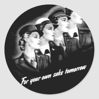 Ladies Go to The Nearest Recruiting Station Classic Round Sticker